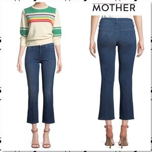 e33b48ba95841 Mother the Outsider Crop Jeans Fast Times Blue 23
